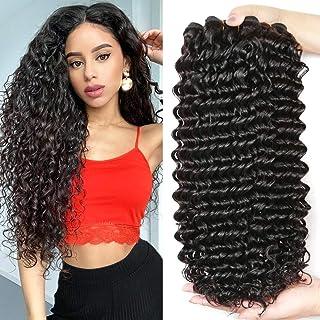 FZY 9A brasileño cabello rizado paquetes profundo rizado cabello humano paquetes pelo brasileño paquetes natual negro color 300g total… (22 24 26INCH)