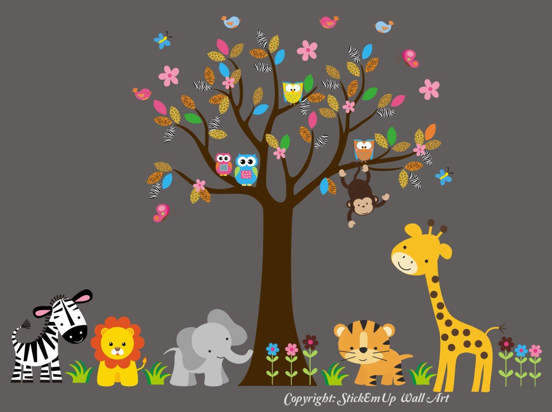 Nursery Wall Decals - Large Max 80% OFF Safari Animal W Max 56% OFF
