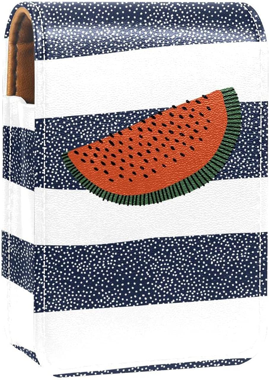 Watermelon Max 72% OFF On Dark Blue White Holder Lipstick Lip 5 ☆ very popular Gloss Stripe