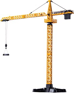 Top Race Metal Diecast Tower Crane Metal Construction Vehicles Model Toy for Kids and Adults 1:50 Scale (TR-134D)