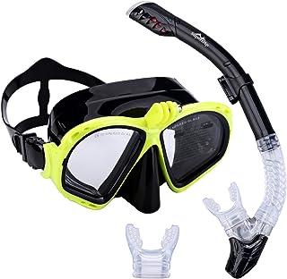 comprar comparacion Supertrip Premium–Set de snorkel para adultos con 2boquillas y máscara de buceo con gafas de natación. Set de snorkel c...