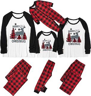 PowerFul-LOT® Christmas Family Pajama Matching Set │ Christmas Plaid Deer Print Long Sleeve Romper Jumpsuit/Top Blouse+Pants