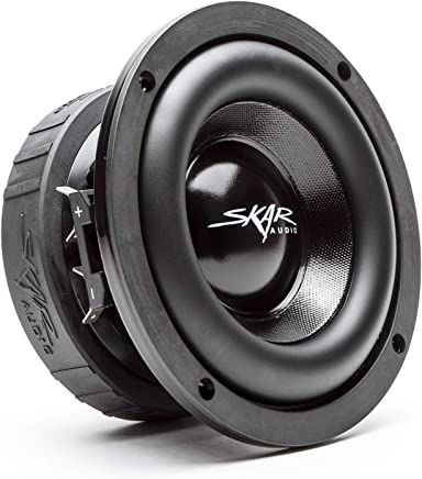"$59 Get Skar Audio EVL-65 D4 6.5"" 400 Watt Max Power Dual 4 Ohm Car Subwoofer"
