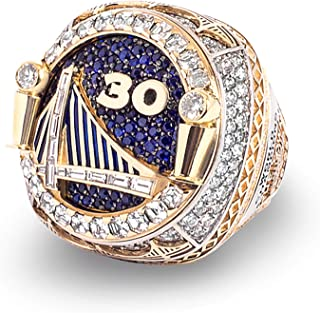 2017 Warrior Curry and Durant Basketball Championship Ring for Fans NBA Christmas Day Gift (2018 Golden State Warrior, 11)