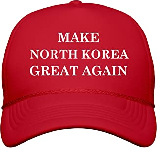 Make North Korea Great Again: Snapback Trucker Hat Red