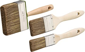 sourcingmap 2,5 Ancho Suave Cerdas Imitada Pintura Dibujo Aceite Pintar Cepillo Pincel 5 Piezas