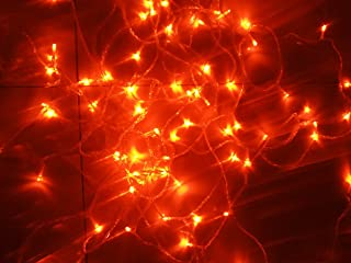Orange String Lights, 164FT/50M 300 LED Orange Lights,8Modes, BLINGSTAR UL Certified Fairy Ambiance Lighting for Wedding,Party,Garden,Patio,Yard,Home,Parties, Halloween