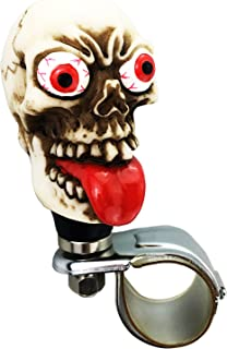 Arenbel Skull Steering Wheel Knob Turning Aid Suicide Spinner Car Grip Handle Assist of Fun Grimace Style fit Most Transmission, Beige