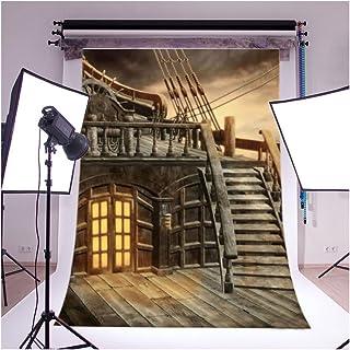 5x 7ft GradeAAAAAレトロ木製テーマWooden House木製ラダーStudioフォト写真背景StudioバックドロップProps Best for Personal写真、壁の装飾、ベビー、子供、Kids、新生児フォト