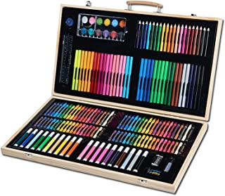 180pcs Art Set Painting Drawing Kit for Kids Students with Water Color Pens, Crayons, Colored Pencils, Oil Pastels, Back t...
