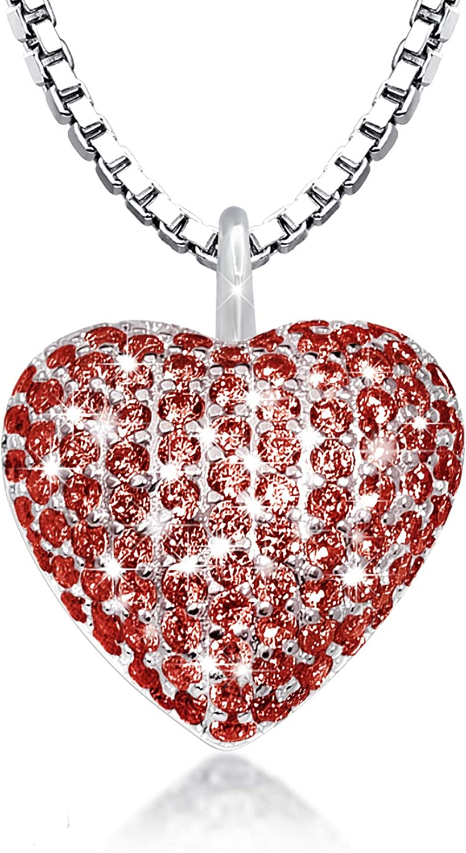 925 Sterling Silver Cremation Necklace CZ Nashville-Davidson Mall Heart Pendant Max 49% OFF Urn Jewe