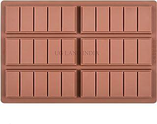 UG LAND INDIA Chocolate Bar Sweet Molds Hot Chocolate Moulds Rectangle Baking Silicon Bakeware Molds Shape Wax Flexible Molds