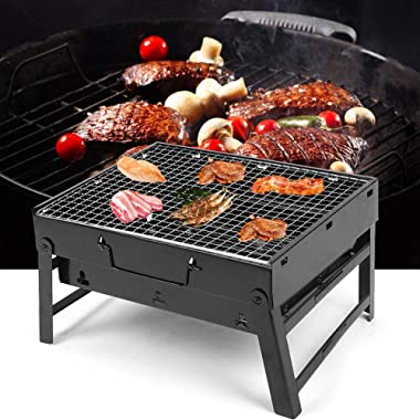 T-Day Portable Barbecue Grill,Folding Barbecue Grill,Portable Stainless Steel Folding Barbecue Grill BBQ Charcoal Grill for C