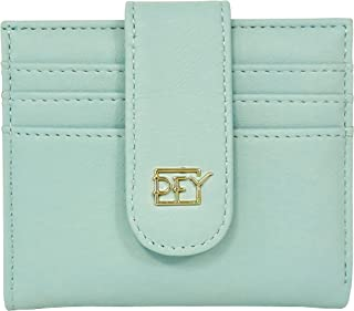EASTVIO Slim Bifold Zipper Wallet for Women Small Credit Card Holder Case Money Organizer,Light Green