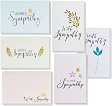 Sympathy Cards - 48-Pack Sympathy Cards Bulk, Greeting Cards Sympathy, 6 Floral and Foliage Designs, Envelopes Included, Assorted Sympathy Cards, 4 x 6 Inches