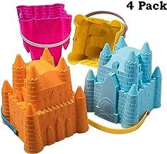 Sand Castle Building Kit, Beach Toys, Beach Bucket, Sand Castle Molds for Kids, Gift Toy..