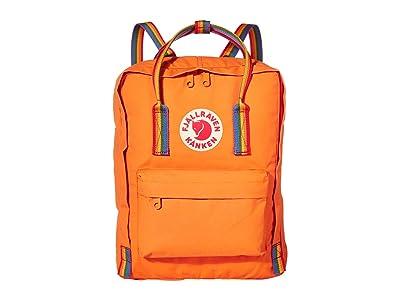 Fjallraven Kanken Rainbow (Burnt Orange/Rainbow Pattern) Backpack Bags