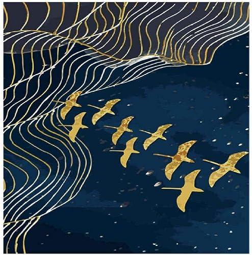 Jjyyh Cadeau de Peinture à l'huile de Bricolage numérique pour Enfants Adultes peintures par numéros Kits Home Decor Oiseau Volant Abstrait 100X180cm