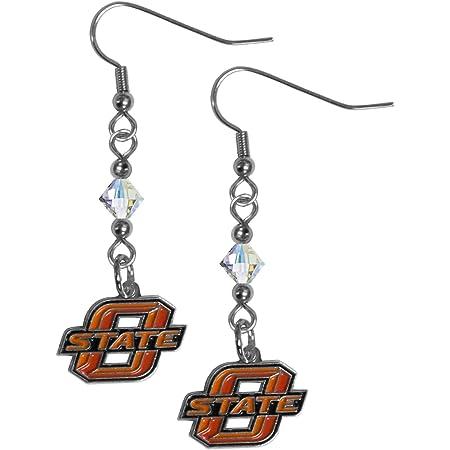 NCAA Siskiyou Sports Womens Oklahoma State Cowboys Dangle Earrings and Crystal Bead Bracelet Set One Size Team Color