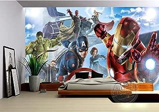 LYSBHX Wallpaper Mural (W) 350X (H) 256Cm Revenge Boy Bedroom Photo Wallpaper 3D Mural Comics Wallpaper Children's Room Interior Design Room Decoration