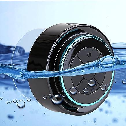 Bluetooth Altavoz Radio de Ducha Impermeable con Ventosa, Impermeable Manos Libres Inalámbrico Waterproof Speakers Altavoces Portátiles para Baño coche y Uso en Exteriores