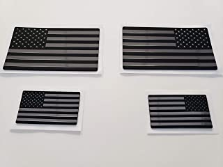 EyeCatcher USA Flag Emblem Decal Black - 4 Pack