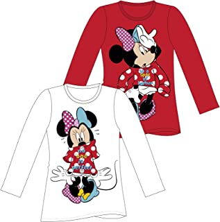 Minnie Mouse Disney Minnie Mouse Sweatshirt Choice Long Sleeve T-Shirt  red
