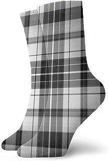Golf GTI Plaid Hombres Mujeres Calcetines cortos 30cm Algodón Calcetines clásicos para yoga Senderismo Ciclismo Correr Fútbol Deportes