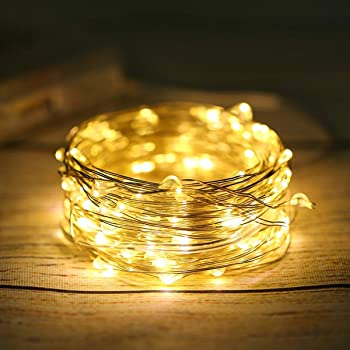 ANJAYLIA LED Fairy Lights Battery Operated String Lights Firefly Lights Garden Home Bedroom Christmas Party Wedding F...