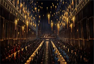 Harry Potter Hogwarts Dining Hall Candles Church Backdrop for Photography Picture 7x5ft Seamless Photo Background Polyester Custom Photo Studio Backdrops Backgrounds Banner
