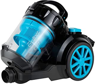 Black+Decker 1800W Bagless Cyclonic Canister Vacuum Cleaner with 6 Stage Filtration, Multi Color - VM2080-B5, 2 Years Warr...