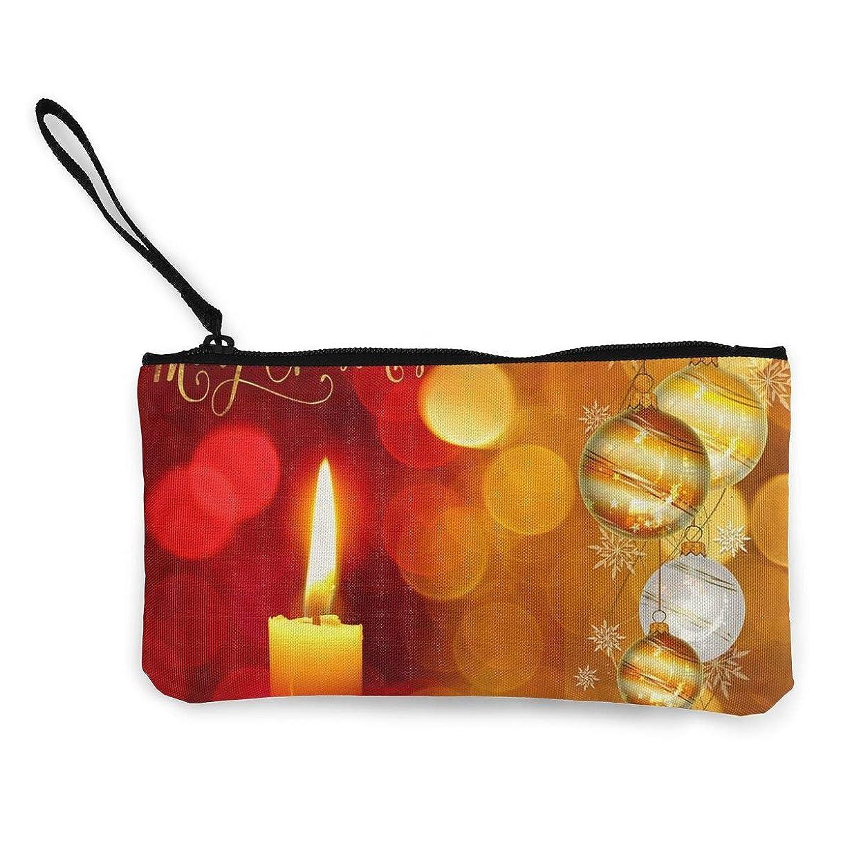 集まる革命的敏感なErmiCo レディース 小銭入れ キャンバス財布 クリスマス グリーティング 小遣い財布 財布 鍵 小物 充電器 収納 長財布 ファスナー付き 22×12cm