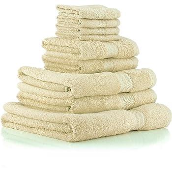 restmor Knightsbridge Juego de 9 Toallas 100% algodón Egipcio ...