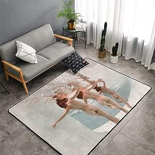 NiYoung Sexy Women Girls Butt Under Sea Nude Art Area Rug, Bedroom Living Room Kitchen Rug, Doormat Floor Mat Standing Mat, Children Play Rug Carpet Bathroom Rug Mat, Throw Rugs Carpet Yoga Mat