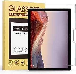 واقي الشاشة SPARIN متوافق مع Surface Pro 7 Plus/ 7/6/5th Gen/4، واقي شاشة من الزجاج المقوى مع S Pen مقاوم للخدش