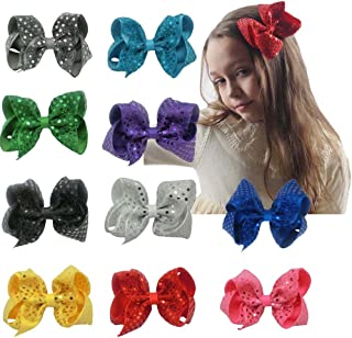 CN Bow For Girl Baby Girls Hair Bow Big Large Sequin Boutique Bows Teens Girls