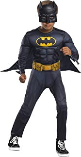 Rubie's Boys Batman Costume with Mask (Medium) Black, Black, 5-7 Years (701364)