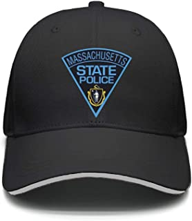 PROGIFToO Massachusetts State Police Adjustable Baseball Cap Snapback Golf Dad hat