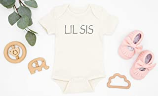 Lil Sis Organic Cotton Baby Bodysuit, Little Sister Romper, Newborn Gift, Baby Shower Gift, Baby Announcement, Infant Girl Outfit