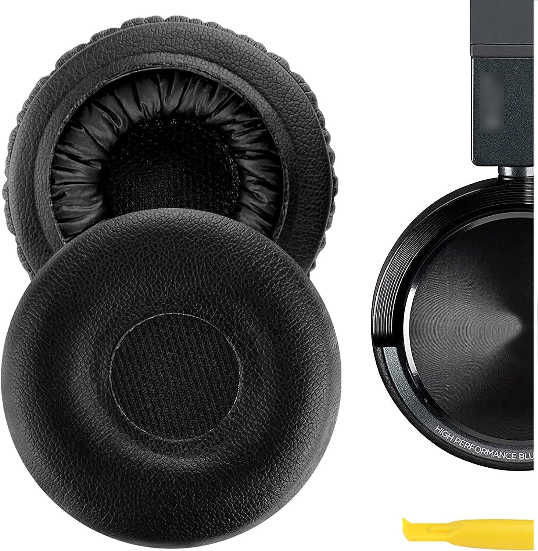 Geekria QuickFit Almohadillas de repuesto de piel de proteína para auriculares AKG Y40 Y45 Y45BT, almohadillas para auriculares, almohadillas de reparación (negro)
