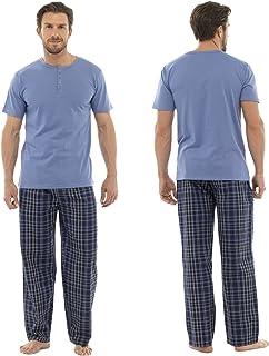 Checked Bottoms and Matching T-Shirt Pyjama PJ Nightwear Sleepwear Set