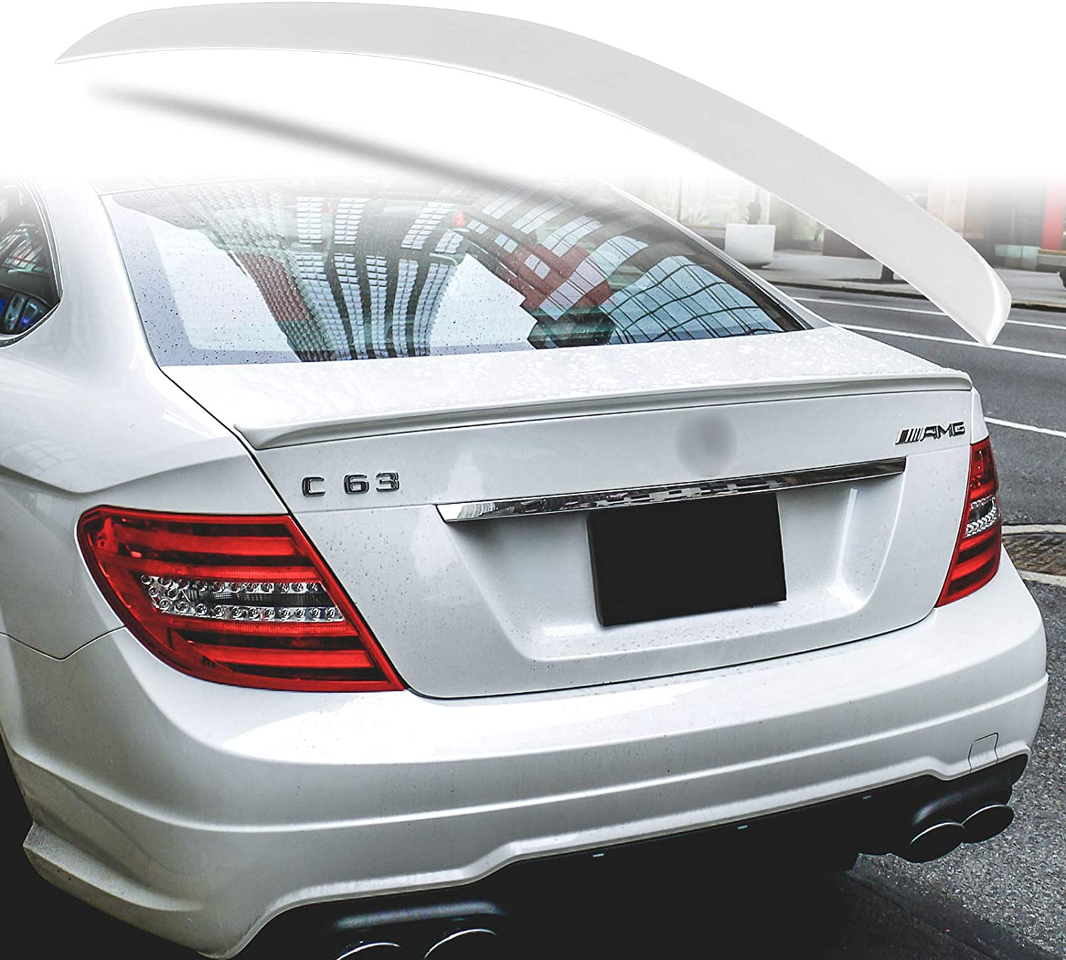Painted Color 359 Fit For Mercedes Benz C-Class W204 Rear Trunk Spoiler ABS