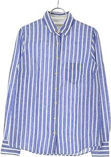 (ジェイクルー) J CREW リネンコットンストライプ柄 長袖シャツ