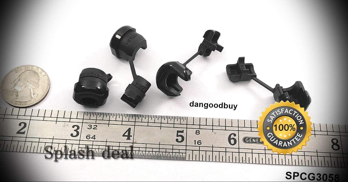 24 Max 47% OFF Snap-in Black Finally resale start Nylon Plastic Cord Grip .3
