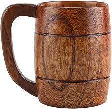 Jadeshay 350ml natuurlijke houten bierbeker, thee koffie drinken mok, bar accessoires cadeau ideeën