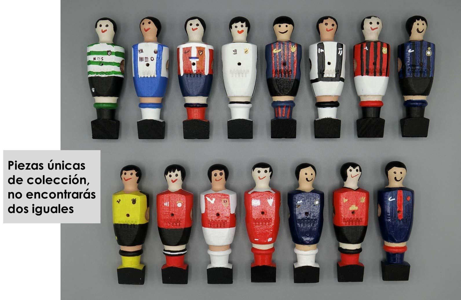 Soccer Table SL Individual Jugador de Futbolín Madrid con imán, presentado en una Exclusiva Caja expositora, Color Blanco (art-065): Amazon.es: Juguetes y juegos