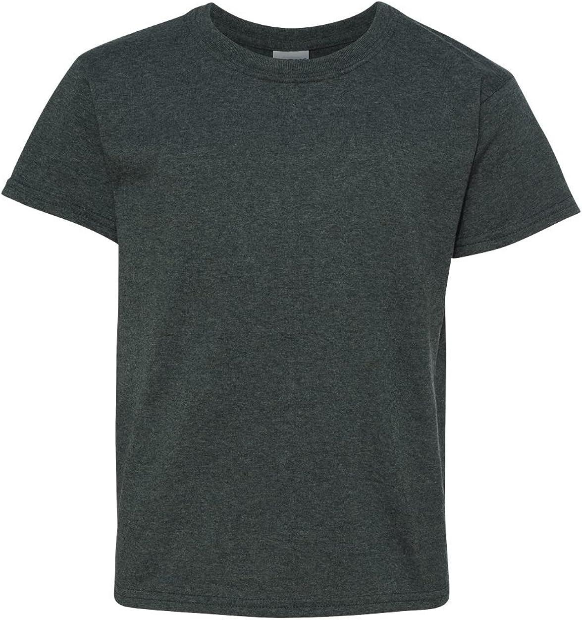 Heavy Cotton T-Shirt (G500B) Dark Heather, M (Pack of 12)