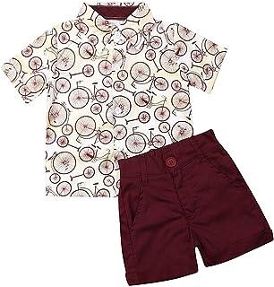 تي شيرت صيفي للأطفال الصغار مطبوع عليه زهور وبلوزات علوية + سراويل برمودا شورت طقم ملابس