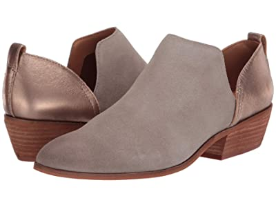 FRYE AND CO. Rubie Slip-On Bootie (Bone Suede/Metallic Full Grain) Women