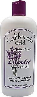 California Gold Artisan Soaps Natural and Organic Lavender Shower Gel for Men and Women ; 1-12 oz. Bottle